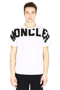 Logo print cotton t-shirt, Short sleeve t-shirts Moncler man