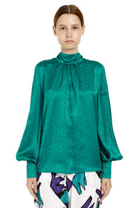 Jacquard blouse with ruffles on the neckline, Blouses The Attico woman