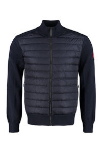 Hybridge cardigan with padded front panel, Cardigans Canada Goose man