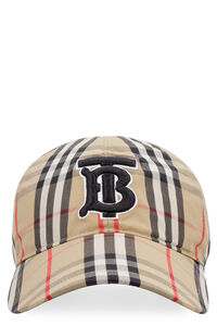 Vintage check motif baseball cap, Hats Burberry man