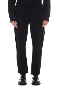 Stretch cotton track-pants, Track Pants Stone Island man