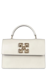 1.4 Jitney leather handbag, Top handle Off-White woman