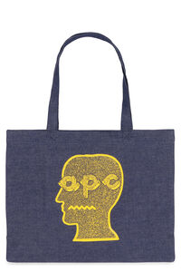 Tote-bag in denim A.P.C. x Brain Dead, Tote A.P.C. man
