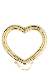 Pipe Heart gold brass bracelet, Bracelets AMBUSH woman