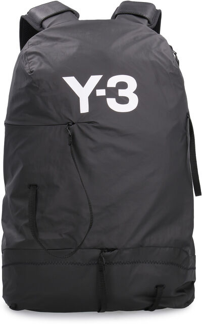 Bungee nylon backpack with logo