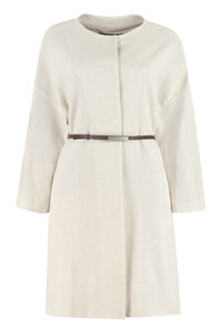 Belted knitted coat, Knee Lenght Coats Fabiana Filippi woman