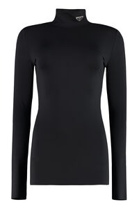 Long sleeve turtleneck, Long sleeved Prada woman