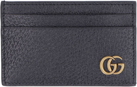 Leather card holder with GG detail, Wallets Gucci man