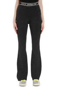 Lurex knit trousers, Flared pants Off-White woman