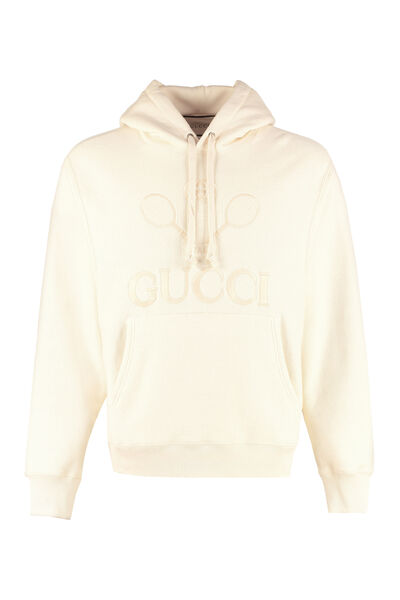 Embroidered cotton hoodie