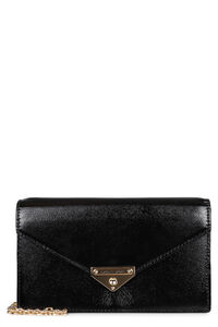 Grace leather clutch, Clutch MICHAEL MICHAEL KORS woman