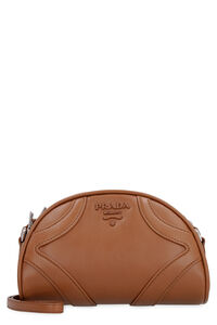 Leather Bowling Bag, Shoulderbag Prada woman