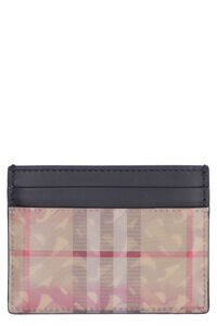 Logo detail leather card holder, Wallets Burberry man