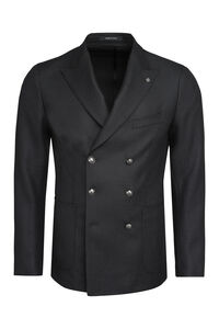 Wool blend double-breasted jacket, Double breasted blazers Tagliatore man