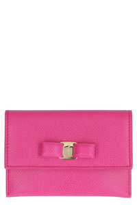 Vara bow leather card holder, Wallets Salvatore Ferragamo woman