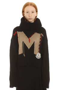 Intarsia sweater, Turtleneck sweaters Moncler woman