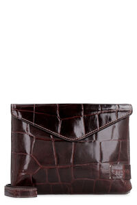 Holly Convertible leather clutch, Clutch STAUD woman