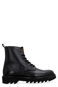 Leather combat boots, Lace-up boots AMI PARIS man