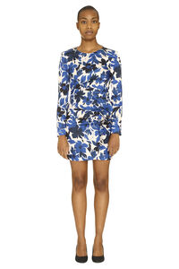 Ruffled dress with wrinkles on the waist, Printed dresses Boutique Moschino woman