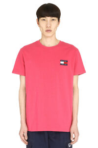 T-shirt in cotone con logo, T-shirt manica corta Tommy Jeans man