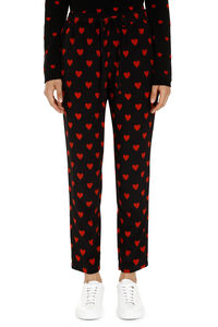 Printed silk pants, Tapered pants Red Valentino woman