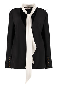 Scarf collar silk blouse, Blouses Givenchy woman
