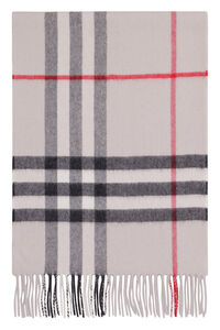 """Checked cashmere scarf, """"This year, your holiday season will be truly phenomenal """" Burberry man"""