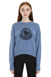 Long-sleeved crew-neck sweater, Crew neck sweaters Moncler woman
