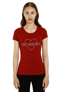 Logo detail cotton t-shirt, T-shirts Love Moschino woman