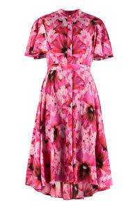 Printed crêpe shirtdress, Midi dresses Alexander McQueen woman