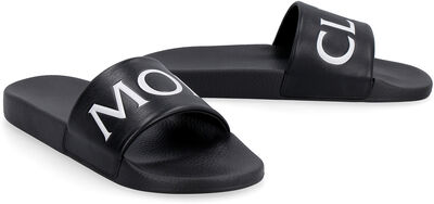 Bastien leather slides with logo