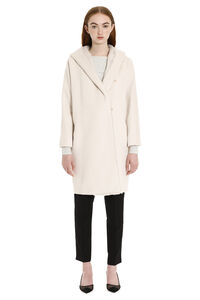 Ceylon virgin wool coat with fur, Knee Lenght Coats Max Mara Studio woman