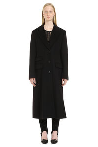 Virgin wool and cashmere coat, Long Lenght Coats Alberta Ferretti woman