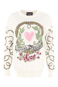 Jacquard pullover, Crew neck sweaters Boutique Moschino woman