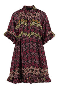 Dress with floral print and ruffle, Printed dresses Dsquared2 woman