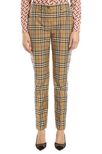 Checked cotton trousers, Straight Leg pants Burberry woman