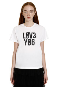Printed cotton T-shirt, T-shirts Red Valentino woman