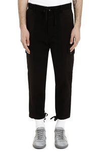 Carrot-fit pants in cotton, Casual trousers AMI man