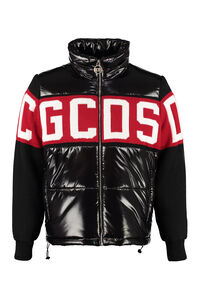 Knitted detail down jacket, Down jackets GCDS man