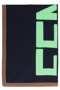 Wool scarf with all-over logo, Scarves Fendi man