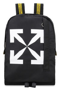 Logo detail nylon backpack, Backpack Off-White man