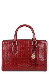 Zoe croco-print leather handbag, Top handle MICHAEL MICHAEL KORS woman