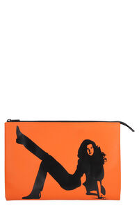 Brooke Shields flat leather pouch, Pouches CALVIN KLEIN JEANS EST. 1978 woman