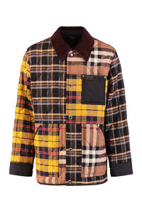 Patchwork effect overshirt, Checked Shirts Burberry man