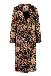 Brocade fabric coat, Knee Lenght Coats L'Autre Chose woman
