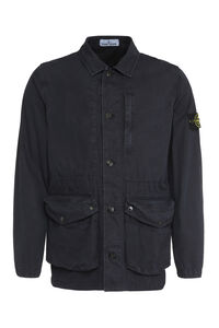 Button-front cotton jacket, Raincoats And Windbreaker Stone Island man