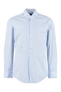 Spread collar cotton shirt, Striped Shirts BOSS man