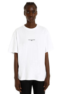 Cotton T-shirt with logo, T-shirts Stella McCartney woman