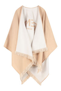 Poncho in lana, Mantelle Fendi woman