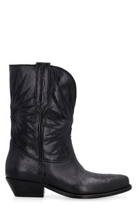 Wish Star leather boots, Ankle Boots Golden Goose woman